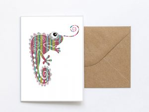 Cameleon Design Sustainable Greeting Card 2020/21