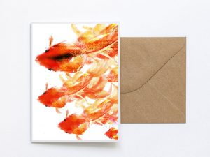 Fish Design Sustainable Greeting Card 2020/21