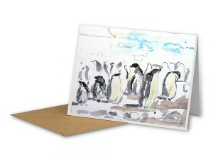 Adelie Penguin Rookery on Devil Island. Antarctic Peninsula – Sustainable Greeting Card 2020/21