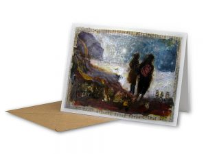 Wet Winter Walk, Charmouth, Dorset by Frances Hatch- Sustainable Greeting Card 2020/21