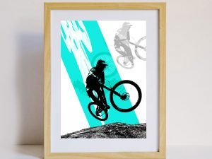 Mountain Biker Design Sustainable Greeting Card 2020/21