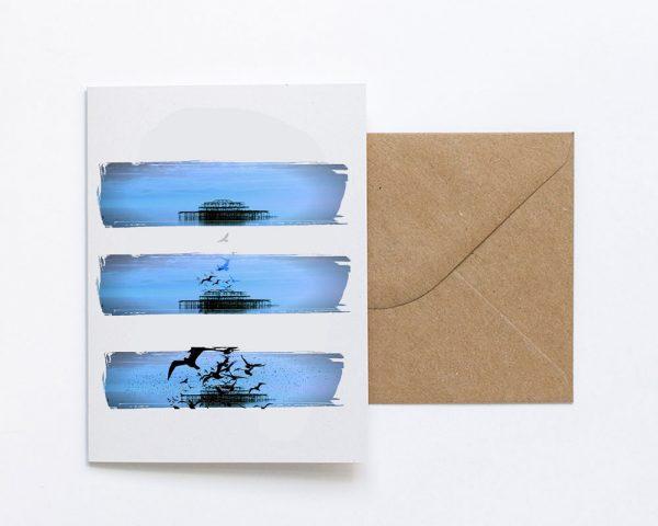 Pier Birds Greeting Card