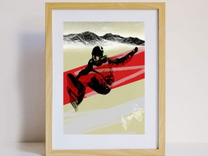 Snowboarder Design Sustainable Greeting Card 2020/21