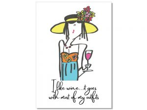 I like wine – Postcard