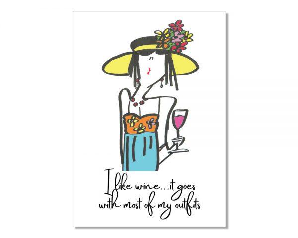 I like wine Postcard