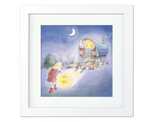 Childrens Book Grandad Greetings Card Art framed