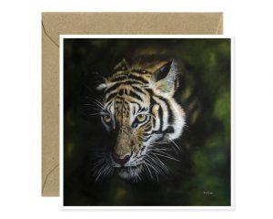 Tiger Greeting Card Art by Sue Ennion