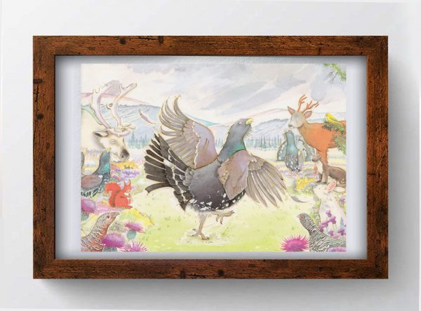 Can't Dance Cameron Greeting Card Art framed