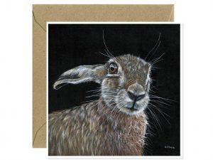 Hare Greeting Card Art by Sue Over