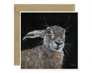 Hare Greeting Card Art Sue Over