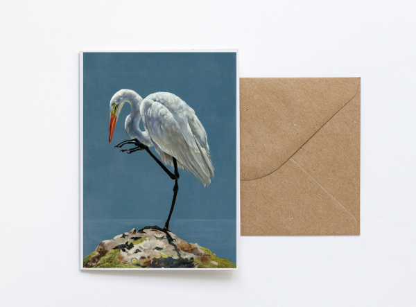 Heron Greeting Card Art Sue Over